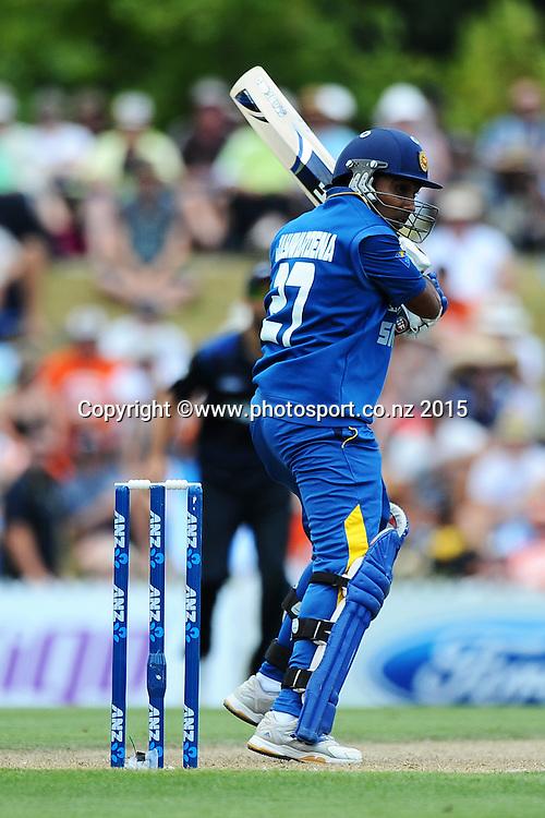 Sri Lanka player Mahela Jayawardene during Match 4 of the ANZ One Day International Cricket Series between New Zealand Black Caps and Sri Lanka at Saxton Oval, Nelson, New Zealand. Tuesday 20 January 2015. Copyright Photo: Chris Symes/www.Photosport.co.nz