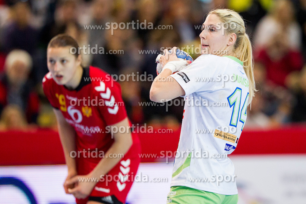 Tamara Mavsar of Slovenia during handball match between Women National Teams of Slovenia and Montenegro in 2016 Women's European Championship Qualification, on October 11, 2015 in Arena Kodeljevo, Ljubljana, Slovenia. Photo by Urban Urbanc / Sportida