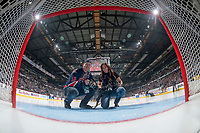 REGINA, SK - MAY 25: Keith Hershmiller and Marissa Baecker photographers of the 2018 Memorial Cup at the Brandt Centre on May 25, 2018 in Regina, Canada. (Photo by Marissa Baecker/CHL Images)
