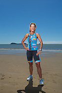 Belinda Granger (AUS) Feature And Cover Shoot. Ironman Cairns and Ironman Cairns 70.3. 2012 Ironman Cairns Triathlon Festival. Trinity Beach, Cairns, Queensland, Australia. 04/06/2012. Photo By Lucas Wroe