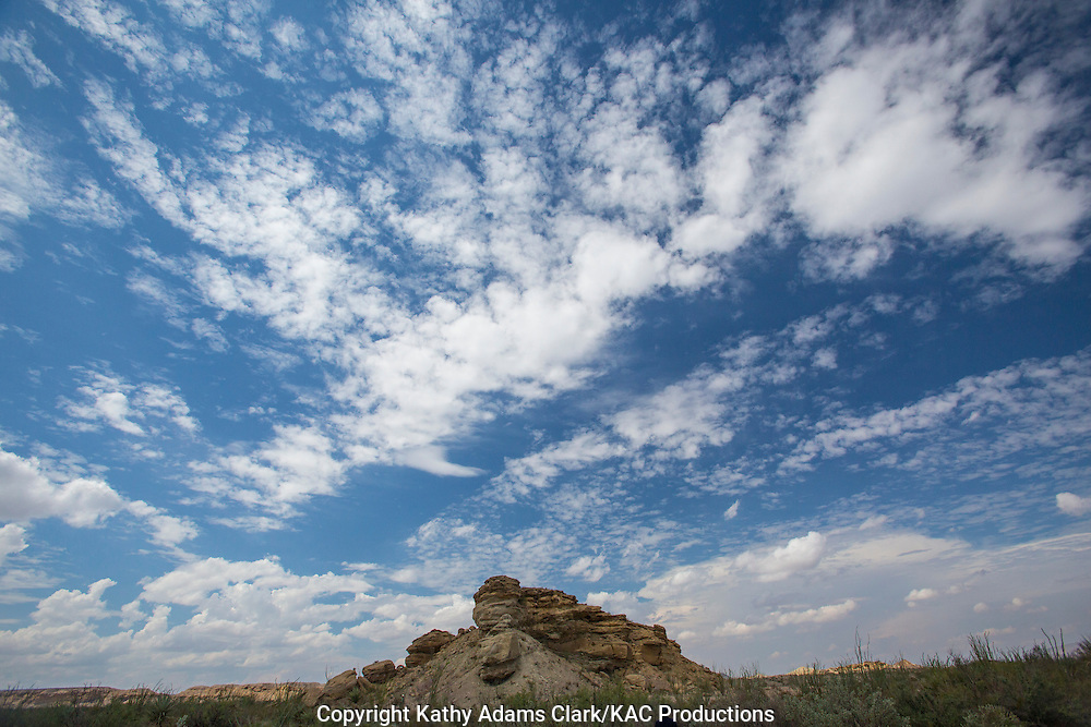 Altocumulus cloud formation over hoodoo at Big Bend National Park, Texas.