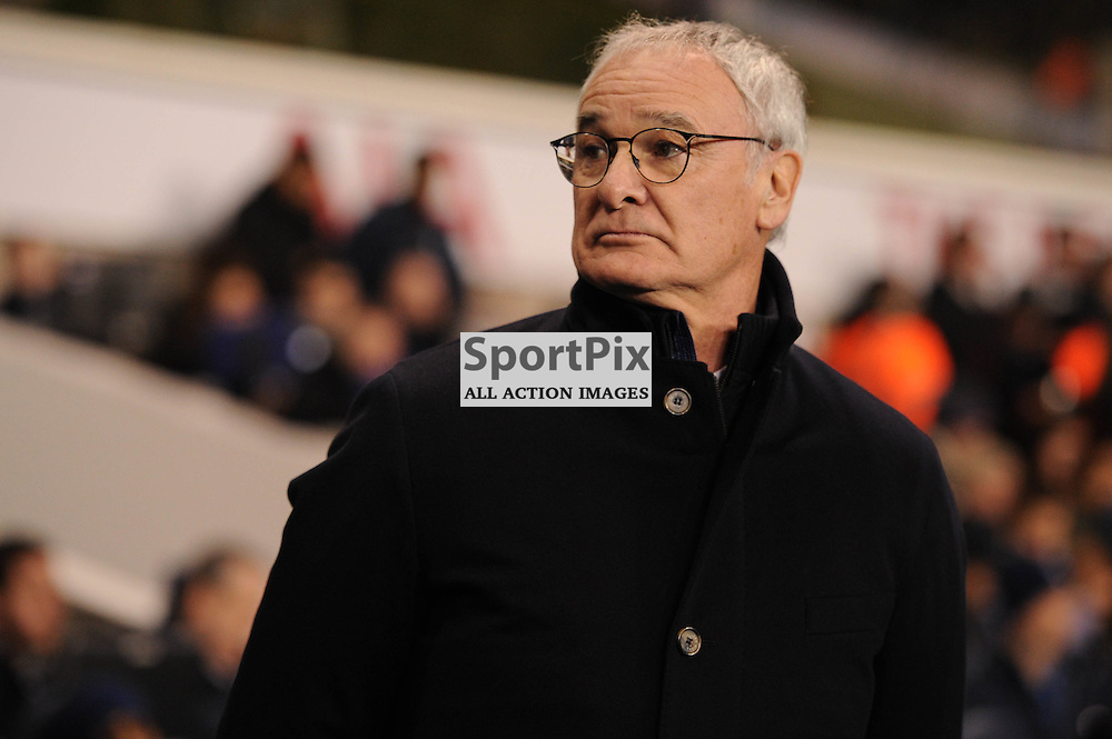 Leciester manager Claudio Ranieri before the Tottenham v Leciester City match in the Barclays Premier League on the 13th January 2016.