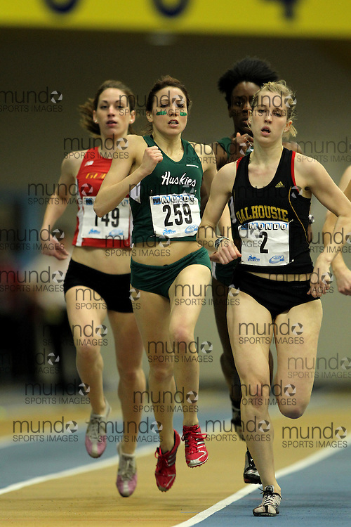 (Windsor, Ontario---11 March 2010) Kailey Smith of University of Saskatchewan competes in the  competes in the 600m heats at the 2010 Canadian Interuniversity Sport Track and Field Championships at the St. Denis Center. Photograph copyright Claus Andersen/Mundo Sport Images. www.mundosportimages.com