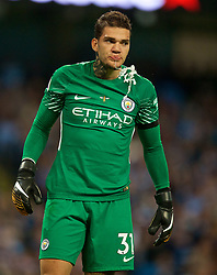 MANCHESTER, ENGLAND - Monday, August 21, 2017: Manchester City's goalkeeper Ederson Moraes during the FA Premier League match between Manchester City and Everton at the City of Manchester Stadium. (Pic by David Rawcliffe/Propaganda)
