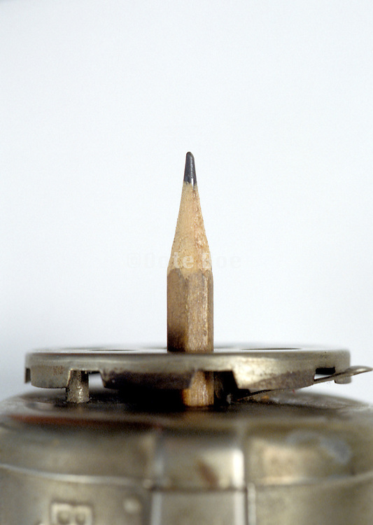 pencil inside old sharpener