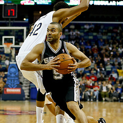 01-13-2014 San Antonio Spurs at New Orleans Pelicans