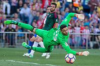 Salvatore Sirigu of Club Atletico Osasuna during the match of La Liga between  Atletico de Madrid and Club Atletico Osasuna at Vicente Calderon  Stadium  in Madrid, Spain. April 15, 2017. (ALTERPHOTOS / Rodrigo Jimenez)