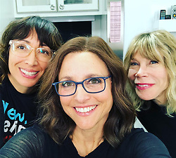 """Julia Louis-Dreyfus releases a photo on Instagram with the following caption: """"These are the wonderful people who create the Selina Meyer hair and make up. They are kind  and dear and complete geniuses at what they do. I\u2019m forever in their debt. That\u2019s a wrap, Wiggy. Boo boo. @veephbo #veep #finalepisode"""". Photo Credit: Instagram *** No USA Distribution *** For Editorial Use Only *** Not to be Published in Books or Photo Books ***  Please note: Fees charged by the agency are for the agency's services only, and do not, nor are they intended to, convey to the user any ownership of Copyright or License in the material. The agency does not claim any ownership including but not limited to Copyright or License in the attached material. By publishing this material you expressly agree to indemnify and to hold the agency and its directors, shareholders and employees harmless from any loss, claims, damages, demands, expenses (including legal fees), or any causes of action or allegation against the agency arising out of or connected in any way with publication of the material."""
