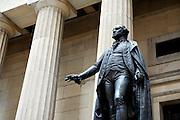 UNITED STATES-NEW YORK-Federal Hall on Wall Street. PHOTO: GERRIT DE HEUS.VERENIGDE STATEN-NEW YORK. Federal Hall op Wall Street met het standbeeld van George Washington ervoor. PHOTO COPYRIGHT GERRIT DE HEUS