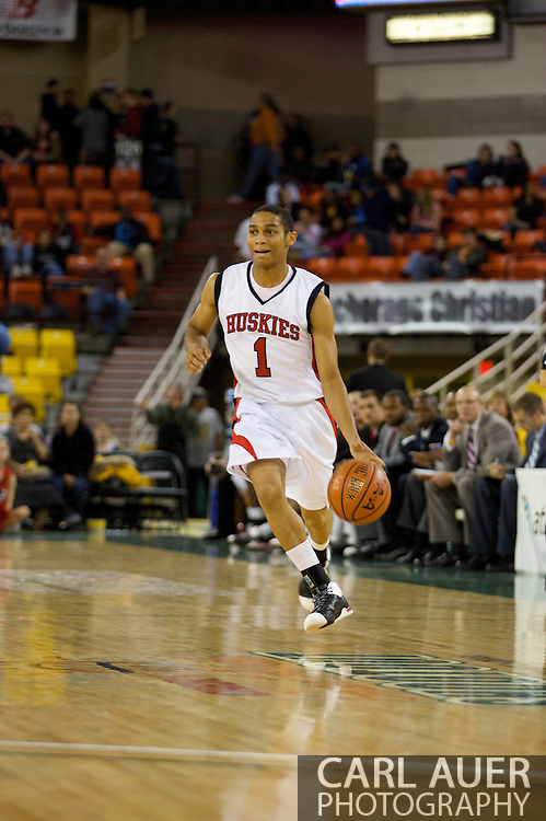 November 26, 2008: Northern Illinois guard Bryan Hall (1) in game two of the 2008 Great Alaska Shootout at the Sullivan Arena.