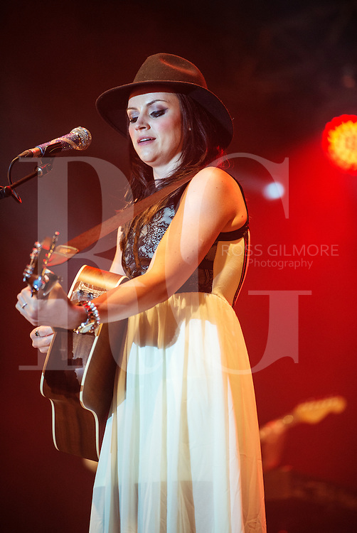 DUNDRENNAN, UNITED KINGDOM - JULY 27: Amy Macdonald performs on stage on Day 2 of Wickerman Festival on July 27, 2013 in Dundrennan, Scotland. (Photo by Ross Gilmore/Redferns