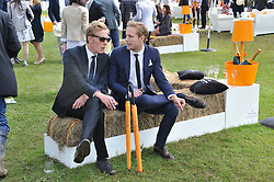 Left to right, LAURENCE FOX and JACK FOX at the 2012 Veuve Clicquot Gold Cup Final at Cowdray Park, Midhurst, West Sussex on 15th July 2012.