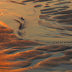 Patterns in the sand at Coast Guard Beach in the Cape Cod National Seashore. Eastham, Massachusetts.
