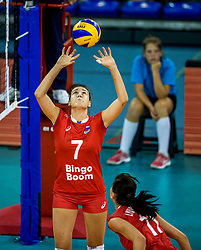 11-08-2018 NED: Rabobank Super Series Italy - Russia, Eindhoven<br /> Russia defeats Italiy with 3-0 and goes to the final on sunday / Tatiana Romonova #7 of Russia