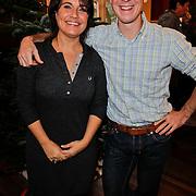 NLD/Amsterdam/20111208- Sky Radio Christmas tree for Charity, Dione de Graaf en Jochem Uytdehaage