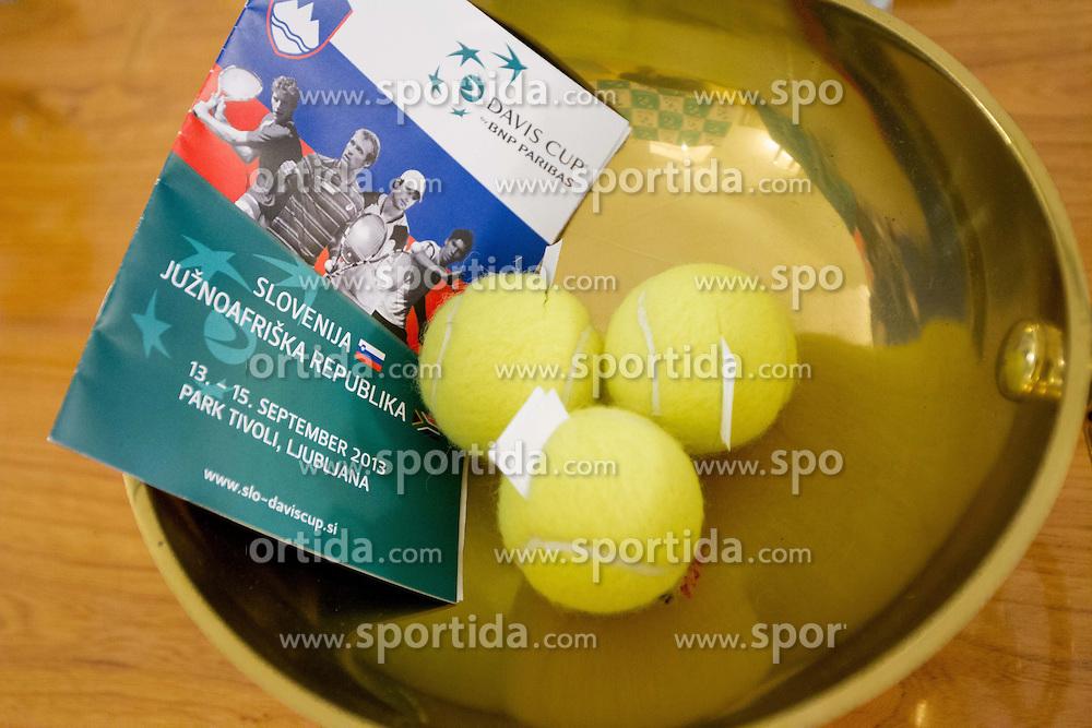 Draw of Davis cup Slovenia vs South Africa competition on September 12, 2013 in City hall, Ljubljana, Slovenia. (Photo by Vid Ponikvar / Sportida.com)