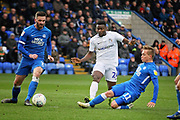 Coventry City forward Bright Enobakhare (24) charges through during the EFL Sky Bet League 1 match between Peterborough United and Coventry City at London Road, Peterborough, England on 16 March 2019.