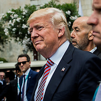 Taormina 26-05-2017 G7, A walk in the G7 leaders before the Summit in the center of Taormina; Donald Trump