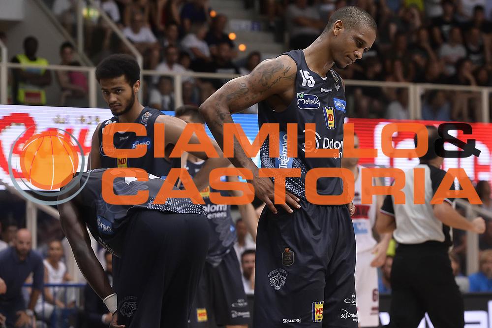 delusione Dolomiti Energia Aquila Basket Trento<br /> Dolomiti Energia Aquila Basket Trento - Umana Reyer Venezia<br /> Playoff Gara 3<br /> Lega Basket 2016/2017<br /> Trento 14/06/2017<br /> Foto Ciamillo-Castoria