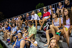 Fans at ATP Challenger Zavarovalnica Sava Slovenia Open 2018, on August 6, 2018 in Sports centre, Portoroz/Portorose, Slovenia. Photo by Vid Ponikvar / Sportida