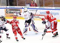 2019-12-30 | Ljungby, Sweden: Kallinge-Ronneby (35) Isak Edman during the game between IF Troja / Ljungby and Kallinge / Ronneby IF at Ljungby Arena ( Photo by: Fredrik Sten | Swe Press Photo )<br /> <br /> Keywords: Ljungby, Icehockey, HockeyEttan, Ljungby Arena, IF Troja / Ljungby, Kallinge / Ronneby IF, fstk191230, ATG HockeyEttan, Allettan
