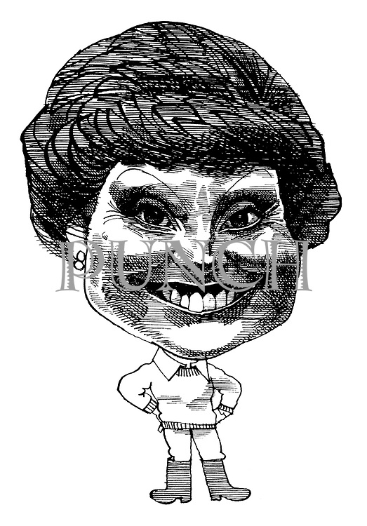 (Caricature of Angela Rippon)