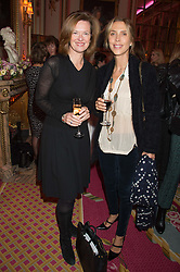 Left to right, MELISSA KNATCHBULL and TATIANA D'ABO at a reception and talk in honour of the late Loulou de La Falaise hosted by CLIC Sargent held at The Ritz, Piccadilly, London on 2nd November 2015.