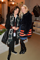 Left to right, JAYNE PICKERING and LAINEY SHERIDAN-YOUNG at the launch of the Private White VC flagship store, 73 Duke Street, London on 11th December 2014.