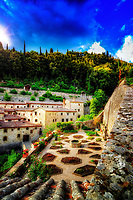 &quot;Sun shines on the Convent of cells - founded by San Francesco in Cortona&quot;...<br />