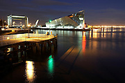 September 2007.The tidal barrier and The Deep (submarium) at night, Hull, East Yorkshire..Picture by Les Gibbon©Hull News & Pictures.les@hullnews.co.uk Tel: 07971 546747