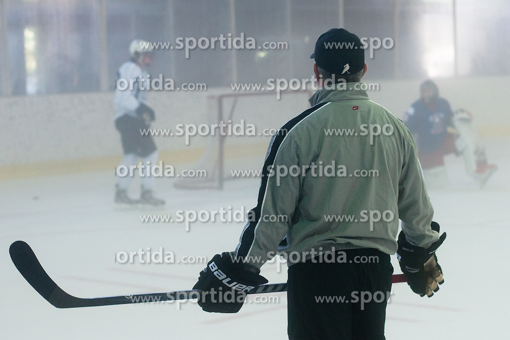 Matjaz Kopitar, head coach of Slovenia and father of Anze Kopitar, at practice of LA Kings superstar Anze Kopitar before NHL League, on August 22, 2011, in Ledena Dvorana, Bled, Slovenia. (Photo by Matic Klansek Velej / Sportida)