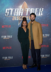 (left to right) Sonequa Martin-Green, and Shazad Latif attend the Star Trek: Discovery special fan screening photocall at Millbank Tower on Sunday, 5th November..Picture dated: Sunday November 5, 2017. Photo credit should read: Isabel Infantes / EMPICS Entertainment.