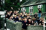 Ireland, Blarney, County Cork, school children