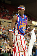 "04 May 2006: Kevin ""Special K"" Daley  during the Harlem Globetrotters vs the New York Nationals at the Sulivan Arena in Anchorage Alaska during their 80th Anniversary World Tour.  This is the first time in 10 years that the Trotters have visited Alaska."