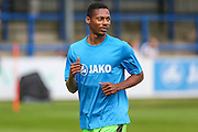 Forest Green Rovers Ethan Pinnock (16) warming up during the Vanarama National League match between Dover Athletic and Forest Green Rovers at Crabble Athletic Ground, Dover, United Kingdom on 10 September 2016. Photo by Shane Healey.