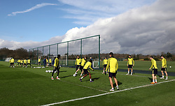 A general view during the training session at Tottenham Hotspur Football Club Training Ground, London.