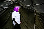 TER APEL - Reportage van vluchtelingen in tentenkamp Ter Apel. In het tentenkamp zitten ongeveer 80 uitgeprocedeerde asielzoekers uit Irak, Somalië en Iran die protesteren tegen hun situatie. ANP ROBIN UTRECHT