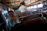 One bus patrons lay shot dead in the back of a public bus in Zone 10 Guatemala City Guatemala, 15 January   2009. The suspected gun men were later apprehended about a mile away from the murder scene.