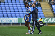 Reading FC midfielder Aaron Tshibola leaves the field during the The FA Cup fourth round match between Reading and Walsall at the Madejski Stadium, Reading, England on 30 January 2016. Photo by Mark Davies.