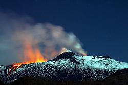 April 11, 2017 - Catania, Italy - Spectacular volcanic eruptions continue from Mount Etna in Italy.  (Credit Image: © Platania/Fotogramma/Ropi via ZUMA Press)