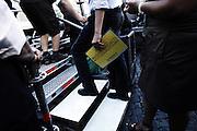 Ignazio Marino, candidato sindaco di Roma, sale sul palco dell'ultimo comizio prima del ballottaggio a Piazza Farnese<br /> Roma - 7 giugno 2013. Matteo Ciambelli / OneShot
