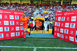 Cape Town 180217-Jaguares  players   take the field when playing their opening game of the Rugby Super 15 at Newlands.Photograph:Phando Jikelo/African News Agency/ANA