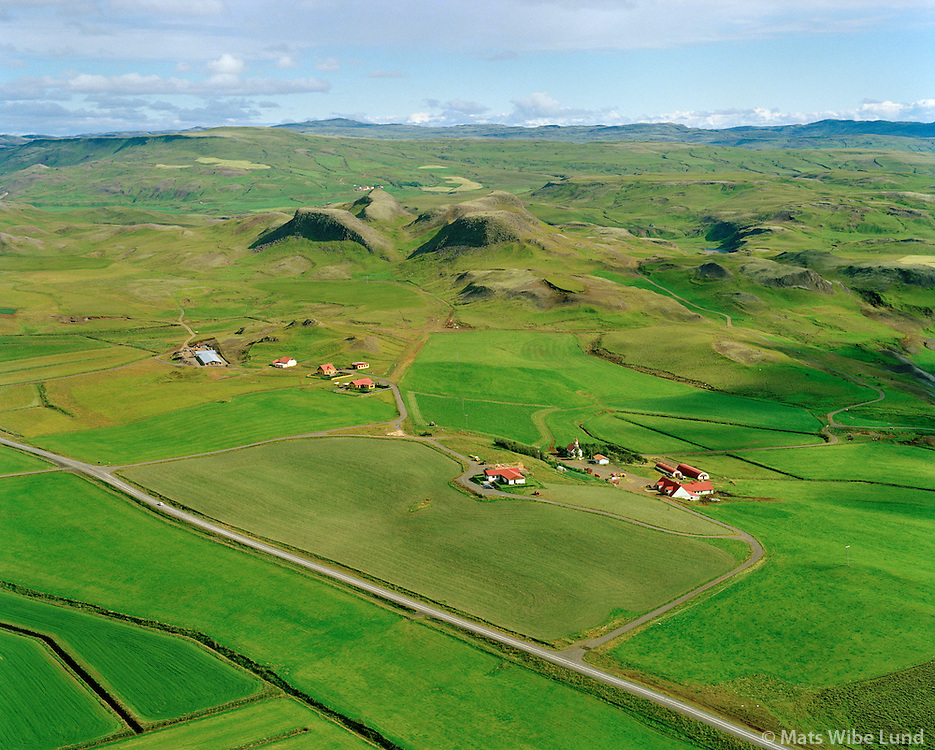 Hrepphólar, Breiðás og Ásgerði séð til norðurs, Hrunamannahreppur / Hreppholar, Breidas and Asgerdi viewing north, Hrunamannahreppur.