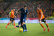 30th August 2019; Dens Park, Dundee, Scotland; Scottish Championship, Dundee Football Club versus Dundee United; Shaun Byrne of Dundee and Sam Stanton of Dundee United