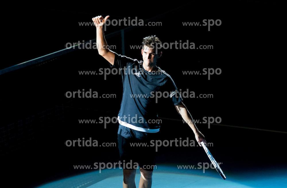 23.10.2016, Stadthalle, Wien, AUT, ATP Tour, Erste Bank Open, Tie Break Tens, Finale, im Bild Dominc Thiem (AUT) // Dominc Thiem of Austria during the final match of the Tie Break Tens of Erste Bank Open of ATP Tour at the Stadthalle in Vienna, Austria on 2016/10/23. EXPA Pictures © 2016, PhotoCredit: EXPA/ Sebastian Pucher