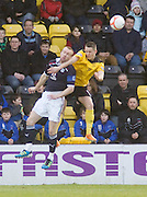 Dundee's Rhys Weston and Livingston's Mark McNulty - Livingston v Dundee, IRN BRU Scottish Football League, First Division - ..© David Young - .5 Foundry Place - .Monifieth - .Angus - .DD5 4BB - .Tel: 07765 252616 - .email: davidyoungphoto@gmail.com.web: www.davidyoungphoto.co.uk