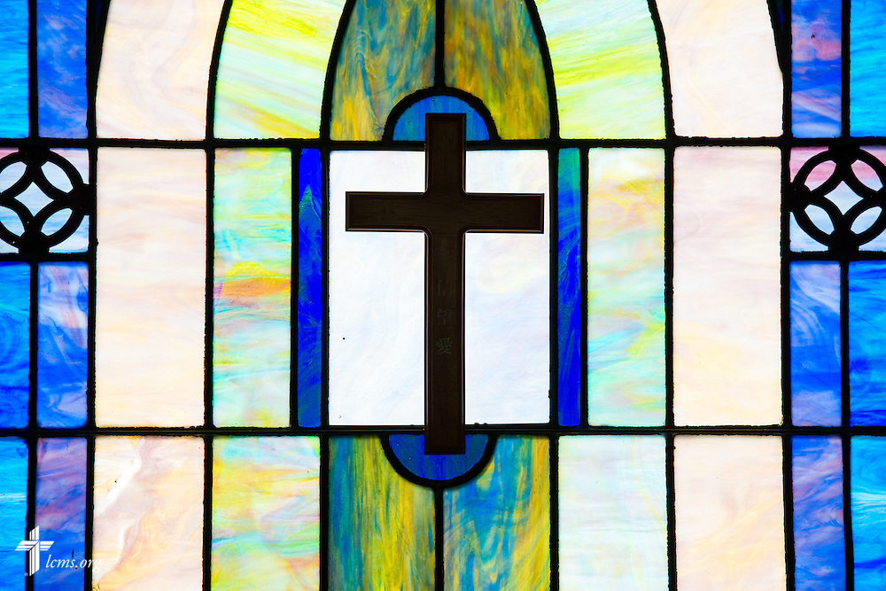 Stained glass in the Wayside Prayer Chapel at Mission Central on Thursday, April 23, 2015, in Mapleton, Iowa. LCMS Communications/Erik M. Lunsford