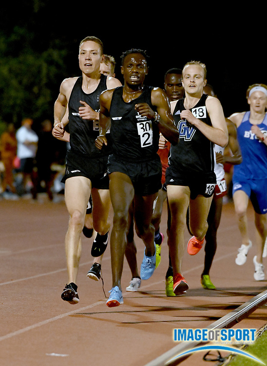 Apr 18, 2019; Azusa, CA, USA; Isaac Kimeli wins the 5,000m in 13:33.47 at the Bryan Clay Invitational at Azusa Pacific University.