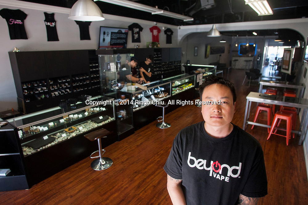 Billy Chen, Beyond Vape co-founder and Director of Marketing and Product Design.<br /> (Photo by Ringo Chiu/PHOTOFORMULA.com)