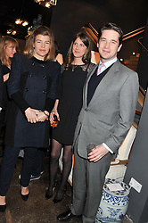Left to right, AMBER NUTTALL, PRINCESS FLORENCE VON PREUSSEN and the HON.JAMES TOLLEMACHE at a party to celebrate the publication of Folly de Grandeur: Romance and Revival in an English Country House by Nicky Haslam held at Oka, 155-167 Fulham Road, London on 21st March 2013.